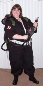 Morgan Skye as a Ghostbuster from the Ghostbuster series