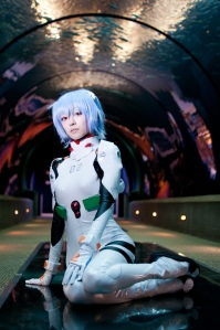 Meepy-Gal as Rei from Evangelion, photo by Tom Good