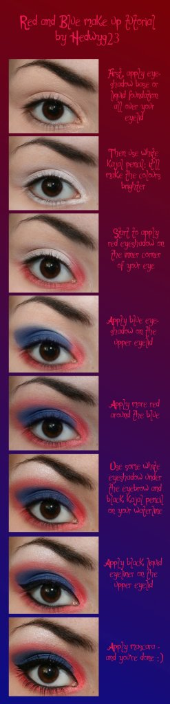 Red and Blue Eye Make-up Tutorial by Hed-y